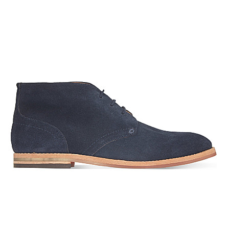 H BY HUDSON Houghton chukka boots (Navy