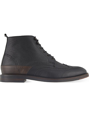 H BY HUDSON Harland wingcap leather boots