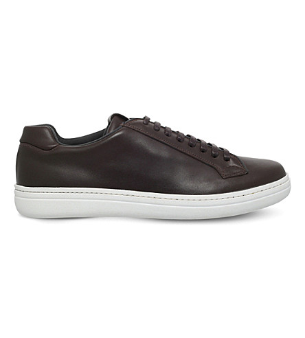CHURCH Mirfield lace-up leather trainers (Brown