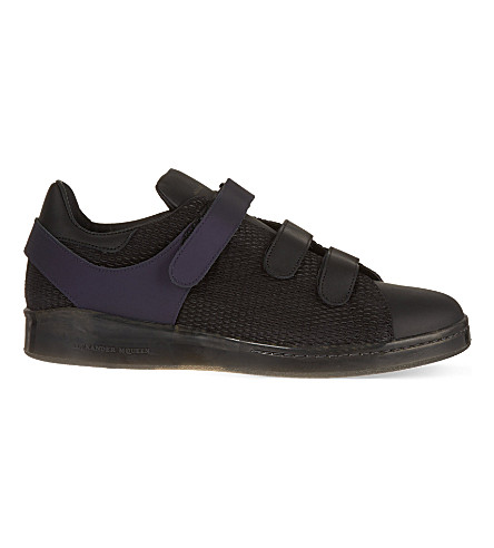 ALEXANDER MCQUEEN Velcro-strap tennis shoes (Purple