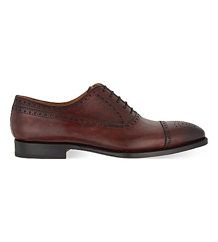MAGNANNI Oxford brogue shoes (Wine