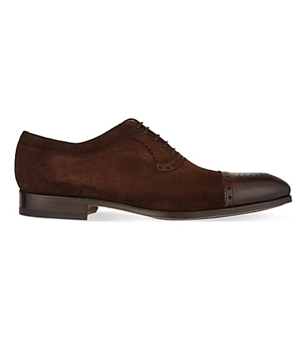 MAGNANNI Suede Oxford shoes (Brown