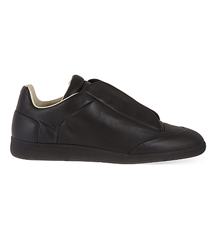MAISON MARGIELA Future low-top leather trainers (Black
