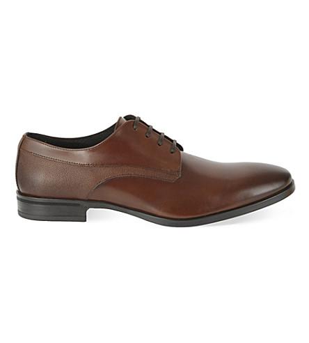KG KURT GEIGER Atherton leather Derby shoes (Tan