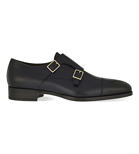 TOM FORD Austin double strap monk shoes (Blue