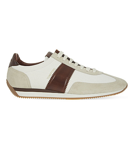 TOM FORD Orford running trainers (White/comb
