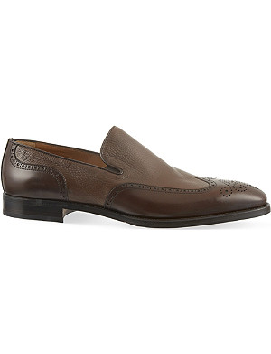 STEMAR Mixed leather loafers