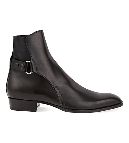laurent eddie popper leather chelsea boots