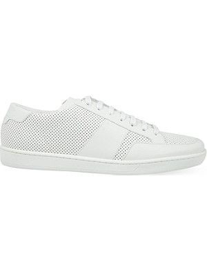 SAINT LAURENT SL/10 perforated low-top trainers