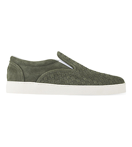 BOTTEGA VENETA Dodger 2 slip on trainers (Green