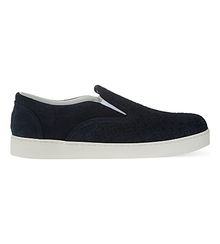 BOTTEGA VENETA Dodger 2 slip-on trainers (Navy