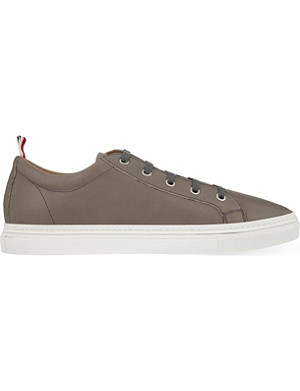 THOM BROWNE Leather tennis trainers