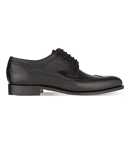 BARKER Woodbridge wingtip Derby shoes (Black