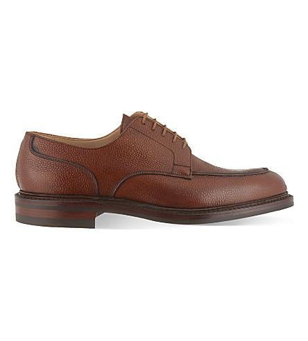CROCKETT & JONES Durham split toe Derby shoes (Tan