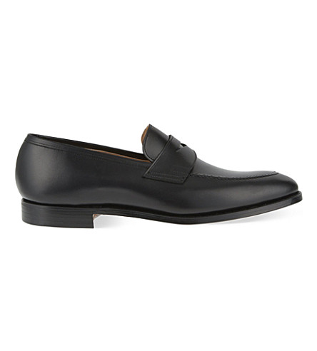 CROCKETT & JONES Sydney penny loafers (Black