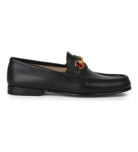 GUCCI Classic horsebit leather loafers (Black