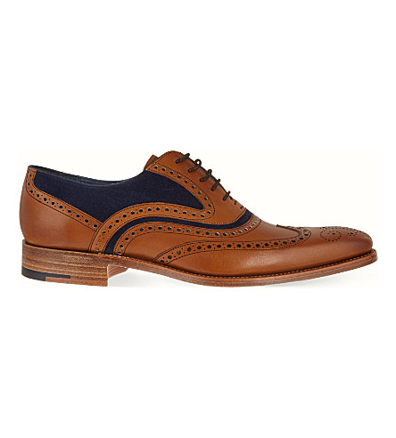BARKER McClean Oxford shoes (Tan+comb