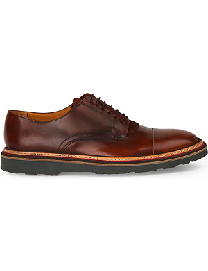 PAUL SMITH Thom suede-trim leather Derby shoes