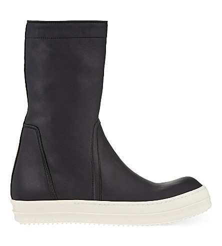 RICK OWENS Basket Creepers boots (Blk/white