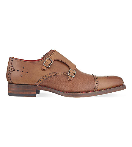 JEFFERY WEST Harry double monk shoes (Tan