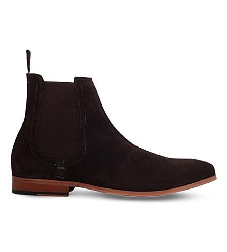 KG KURT GEIGER Dizzy suede Chelsea boots (Brown