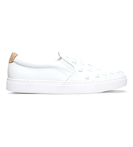 KG KURT GEIGER Fidel studded skate shoes (White