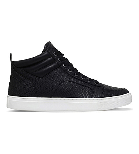 KG KURT GEIGER Kurtis high-top trainers (Black