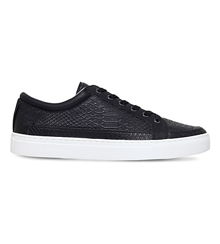KG KURT GEIGER Phoenix faux-leather low-top trainers (Black