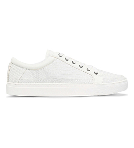 KG KURT GEIGER Phoenix leather low-top trainers (White