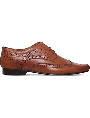 KG KURT GEIGER Bassie leather brogues (Tan