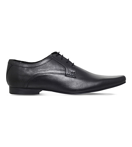 KG KURT GEIGER Banstead leather Derby shoes (Black