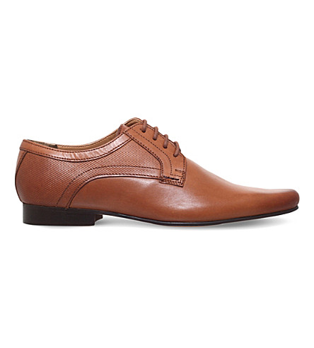 KG KURT GEIGER Banstead leather Derby shoes (Tan