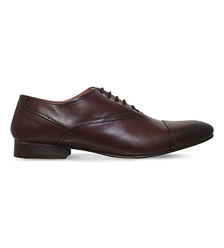 KG KURT GEIGER Anthony leather Oxford shoes (Brown