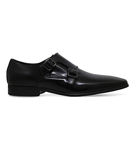 KG KURT GEIGER Root lather Monk shoes (Black
