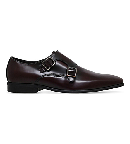 KG KURT GEIGER Root lather Monk shoes (Wine