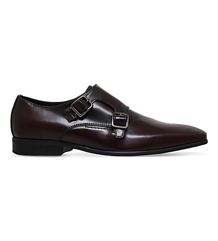 KG KURT GEIGER Root lather Monk shoes (Wine
