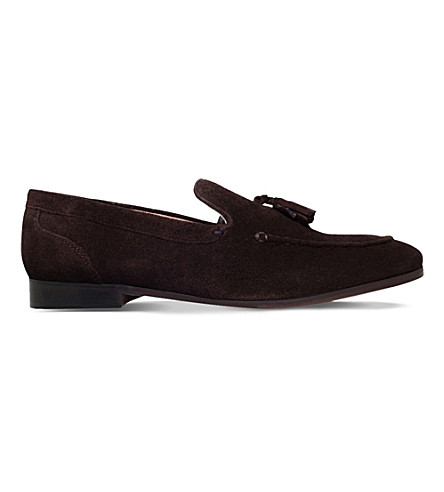 KG KURT GEIGER Coleman suede loafers (Brown