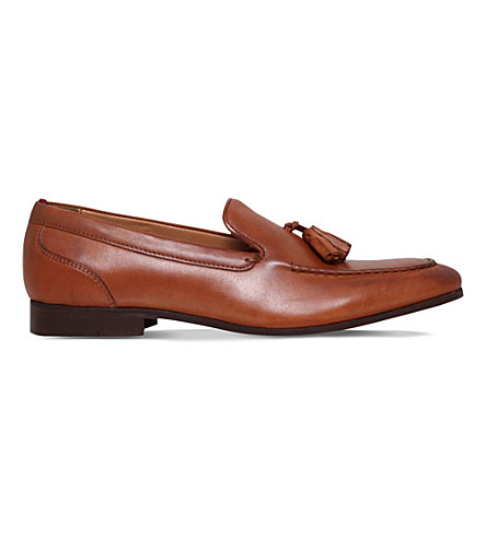 KG KURT GEIGER Coleman leather loafers (Tan