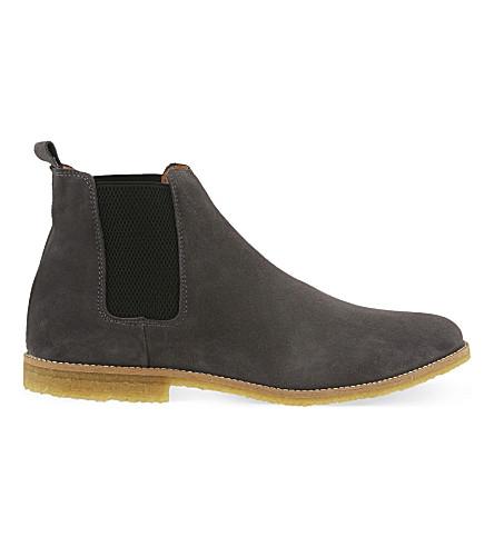 KG KURT GEIGER Reggie suede chelsea boots (Grey/dark