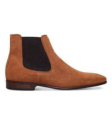 KG KURT GEIGER Francis suede chelsea boots (Tan