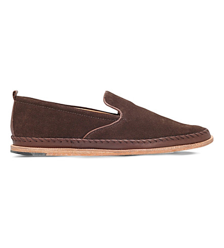 H BY HUDSON Macuco suede slippers (Brown