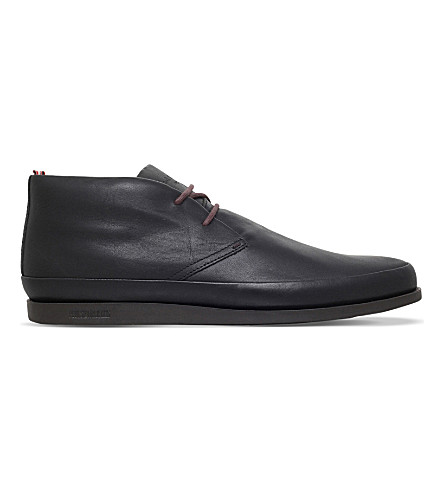 PAUL SMITH Loomis leather chukka boots (Black