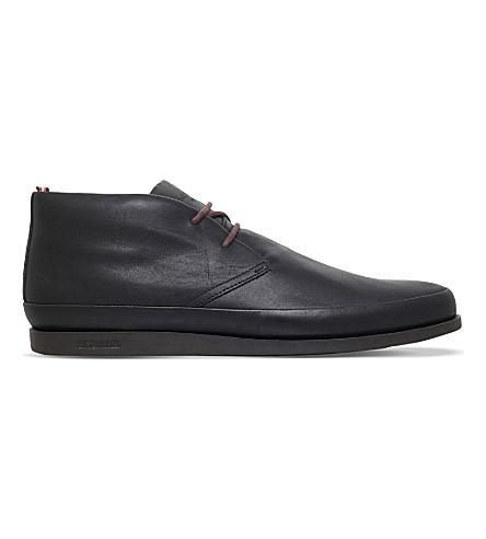 PAUL SMITH Loomis leather chukka boots (Black