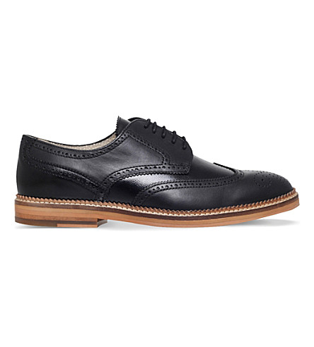 KG KURT GEIGER Mansel leather Derby shoes (Black