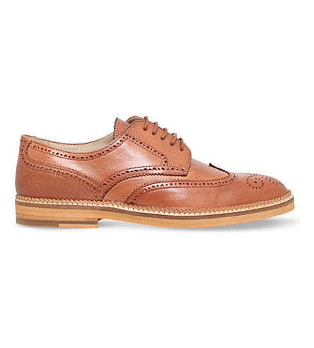 KG KURT GEIGER Mansel leather Derby shoes (Tan