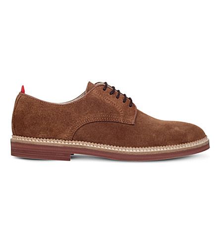 KG KURT GEIGER Hammond suede derby shoes (Tan