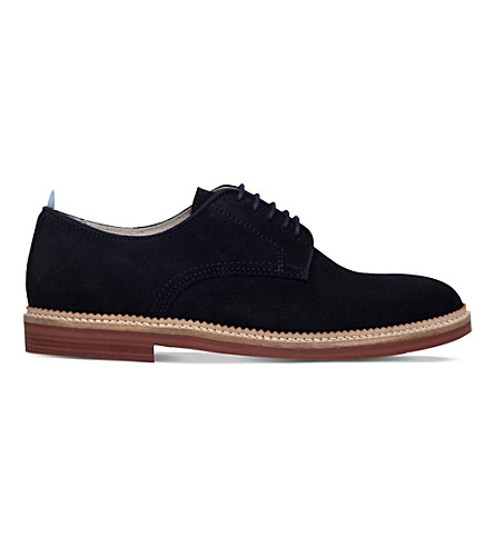 KG KURT GEIGER Hammond suede derby shoes (Navy