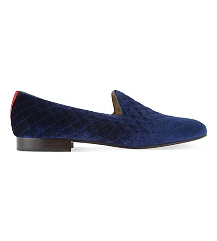 DEL TORO Prince velvet slippers (Navy