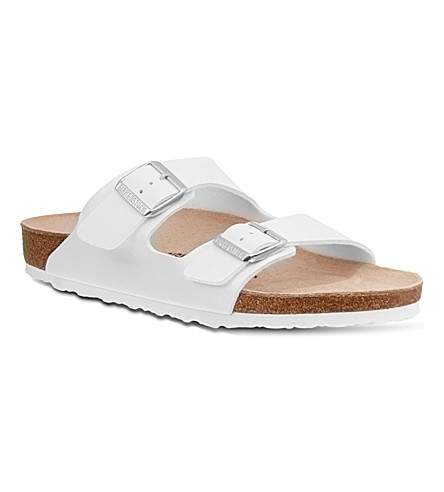 BIRKENSTOCK Arizona leather sandals (White