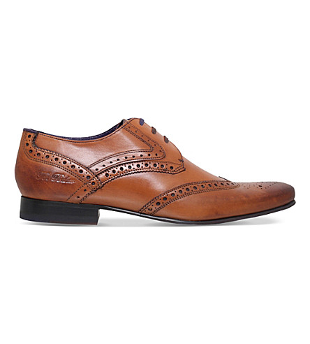 TED BAKER Hann 2 leather derby brogues (Tan
